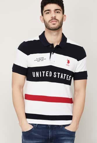 U.S. POLO ASSN. Men Striped Polo T-shirt