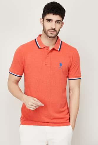 U.S. POLO ASSN. Men Solid Polo T-shirt