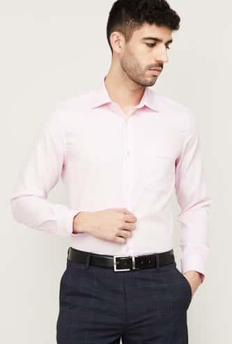 LOUIS PHILLIPE Men Solid Regular Fit Formal Shirt
