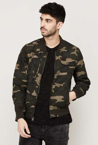 LEVI'S Men Camouflage Printed Bomber jacket