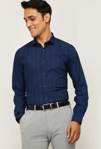 LOUIS PHILIPPE Men Printed Super Slim Fit Formal Shirt