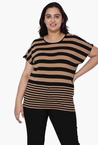 VERO MODA Women Striped Round Neck T-shirt