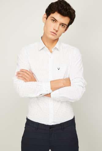 ALLEN SOLLY Men Printed Super Slim Fit Casual Shirt