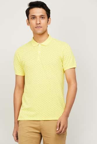 ALLEN SOLLY Men Printed Regular Fit T-shirt