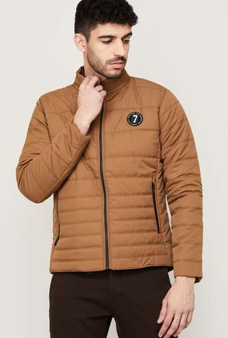 BEING HUMAN Men Solid Hooded Puffer Jacket