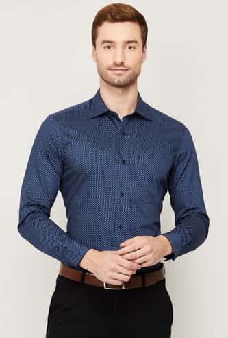 LOUIS PHILIPPE Men Printed Regular Fit Formal Shirt