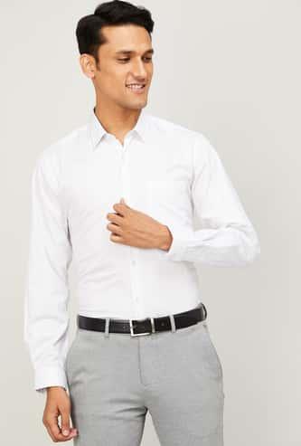 LOUIS PHILIPPE Men Printed Spread Collar Formal Shirt