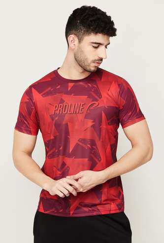 PROLINE Men Printed Crew Neck T-shirt