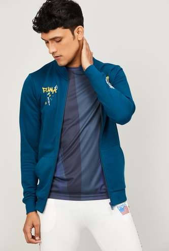 PUMA Men Printed Sporty Sweatshirt