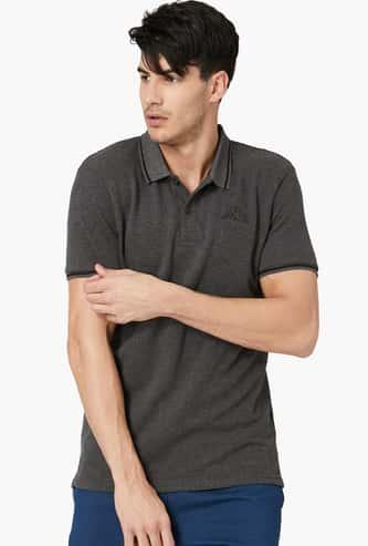 KAPPA Solid Polo Neck Half Sleeves T-shirt