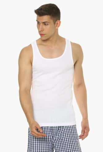 VAN HEUSEN All Day Fresh Combed Cotton Vest - Pack Of 2