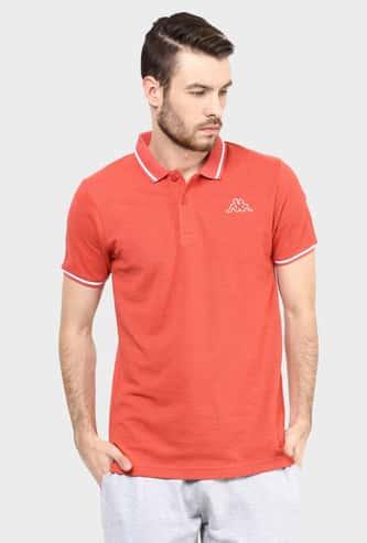 KAPPA Solid Polo Neck T-Shirt