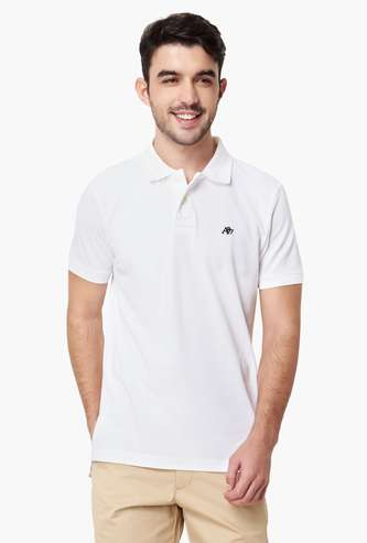 AEROPOSTALE Regular Fit Solid Polo T-shirt