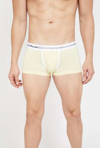 FCUK Panelled Solid Trunks