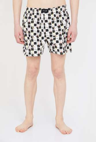 FCUK Checked Elasticated Boxers