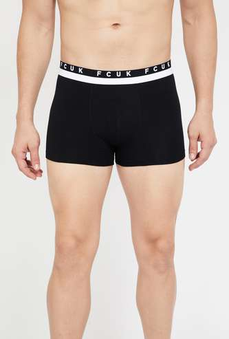 FCUK Solid Knitted Trunks