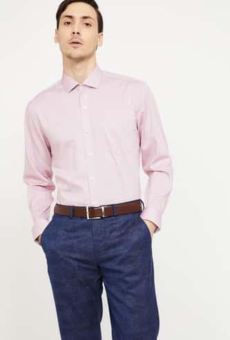 CODE Regular Fit Solid Full Sleeves Shirt