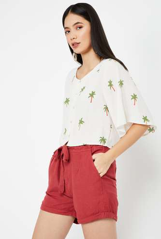 GINGER Printed Woven Top