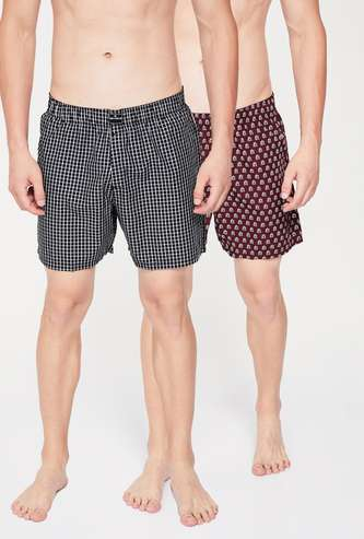 FAME FOREVER Printed Lounge Shorts - Pack of 2 Pcs.