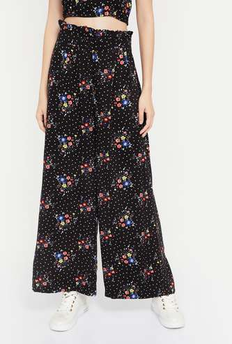 GINGER Printed Buttoned Palazzos