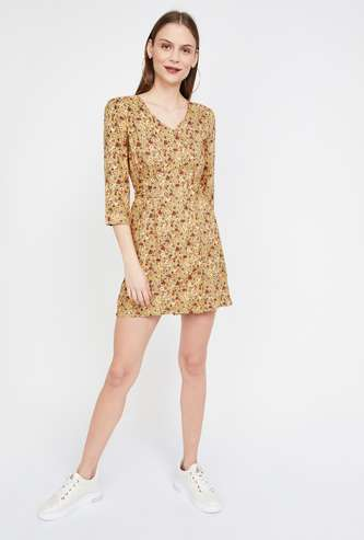 GINGER V-neck Printed Dress