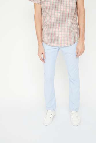 CELIO Textured Slim Fit Trousers