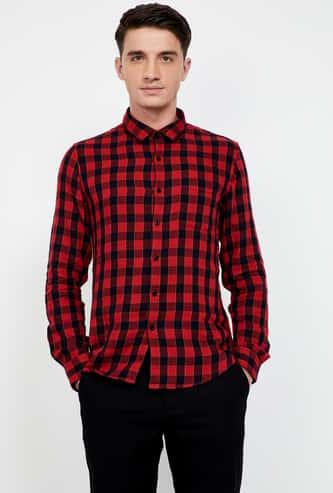 BOSSINI Checked Slim Fit Casual Shirt