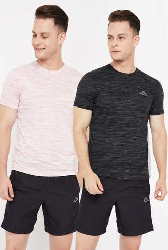 KAPPA Textured Crew Neck T-shirt- Set of 2 Pcs.
