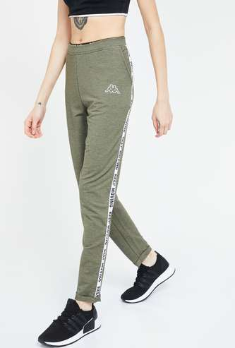 KAPPA Solid Regular Fit Knitted Track Pants