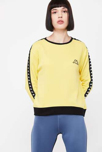 KAPPA Solid Full Sleeves Sweatshirt