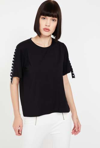 KAPPA Solid Round Neck Regular Fit Top