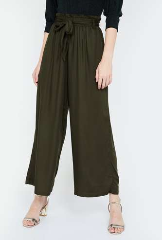 BOSSINI Solid Cropped Palazzos