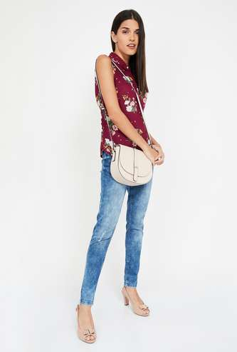 BOSSINI Floral Print Regular Fit Sleeveless Shirt