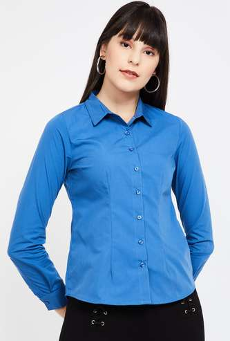 CODE Solid Regular Fit Formal Shirt