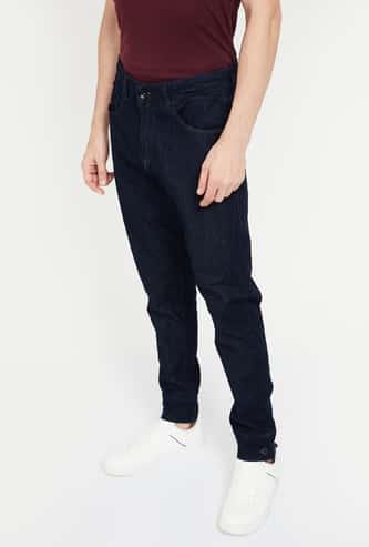 SPYKAR Kane Solid Slim Fit Distressed Jeans