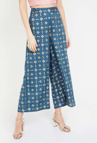 MELANGE Printed Regular Fit Parallel Pants