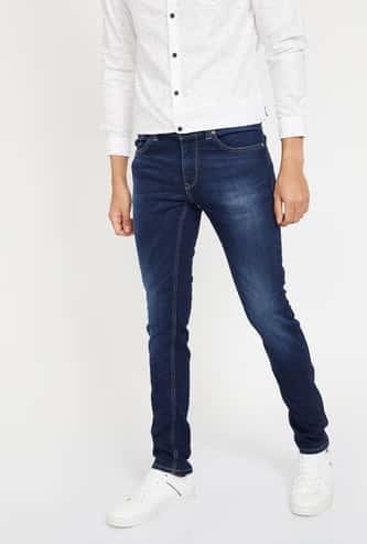 SPYKAR Stonewashed Skinny Fit Jeans