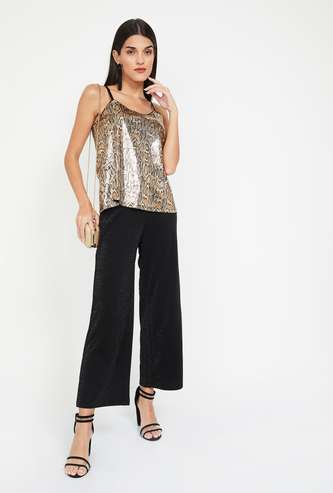 GINGER Animal Print Spaghetti Top