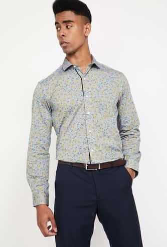 CODE Printed Full Sleeves Regular Fit Shirt