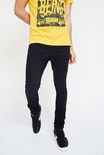 FORCA Solid 5-Pocket Skinny Fit Jeans