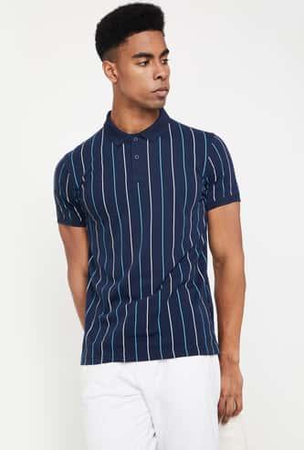 KAPPA Striped Short Sleeves Slim-Fit Polo T-shirt