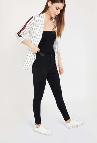 GINGER Striped Regular Fit Shrug