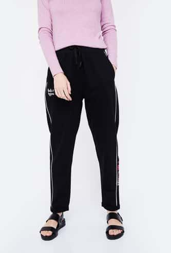 SMILEY Printed Regular Fit Track Pants