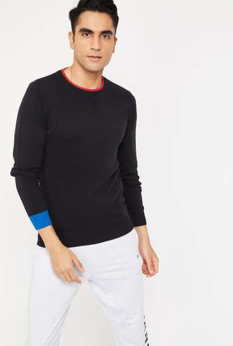 FORCA Solid Crew Neck Sweater