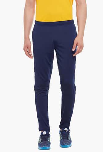 ALCIS Men Solid Regular Fit Trackpants with Open Hem