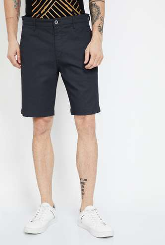 CODE Textured Regular Fit Shorts