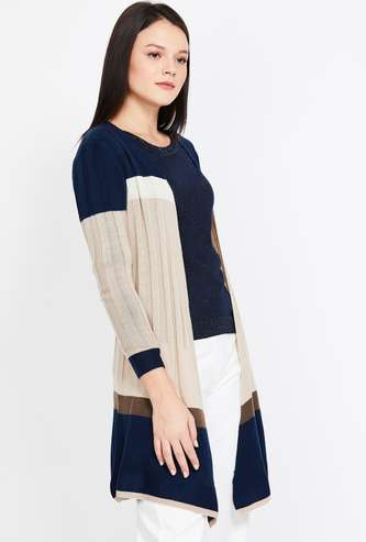 BOSSINI Colourblock Panelled Shrug