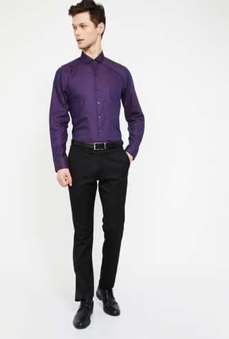 CODE Printed Slim Fit Formal Shirt