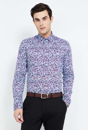 CODE Floral Print Slim Fit Formal Shirt
