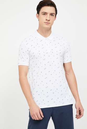 FAME FOREVER Printed Regular Fit Polo T-shirt